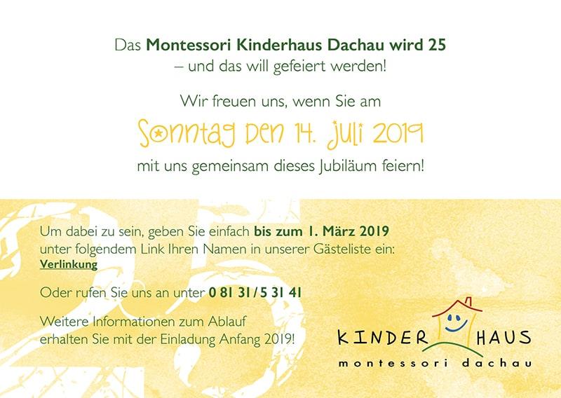 Das Montessori Kinderhaus Wird 25 Montessori Kinderhaus Dachau